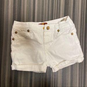 7FAM White Toddler Girls Shorts 18 months